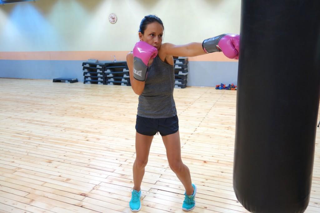 Бокс тренировки в спортен клуб Тотал Спорт с Мария