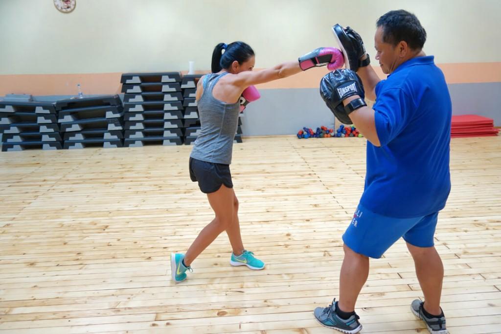 Тотал Спорт - бокс тренировка с инструктор Мария Петрова